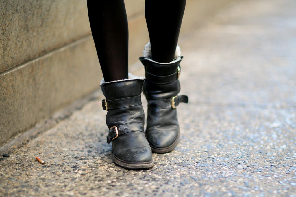 Biker boots are a total Fashion Week go-to with good reason — they're as cool as they are practical.