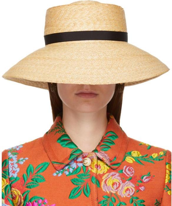 Gucci Beige Straw Hat