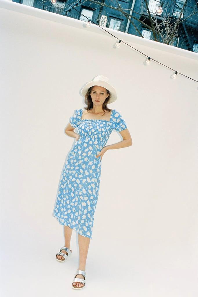 Faithfull Leyla Smocked Midi Dress