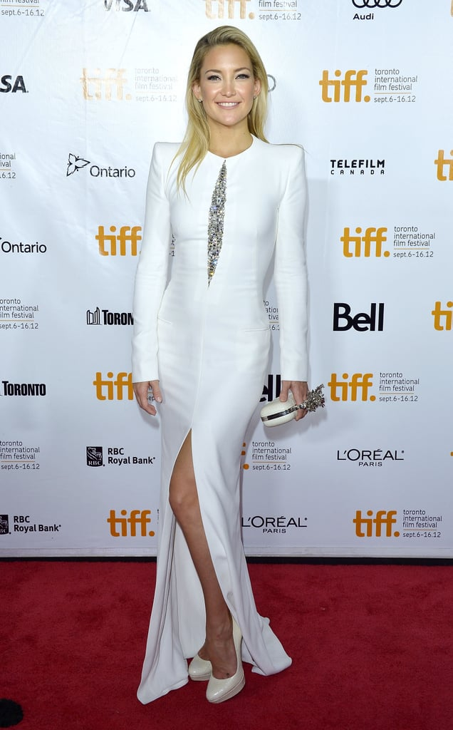 Kate Hudson stunned in a structured white Alexander McQueen gown at the premiere of The Reluctant Fundamentalist.