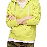 J.Crew Original Garment Dyed V-Neck Cotton Terry Hoodie