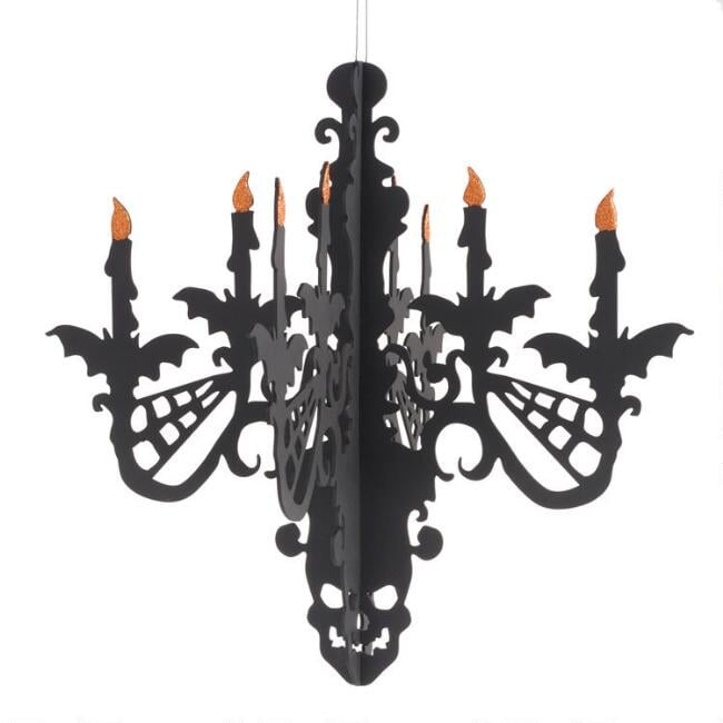Black Paper 3D Chandelier Hanging Decor