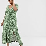 ASOS Design Curve Button Through Maxi Tea Dress