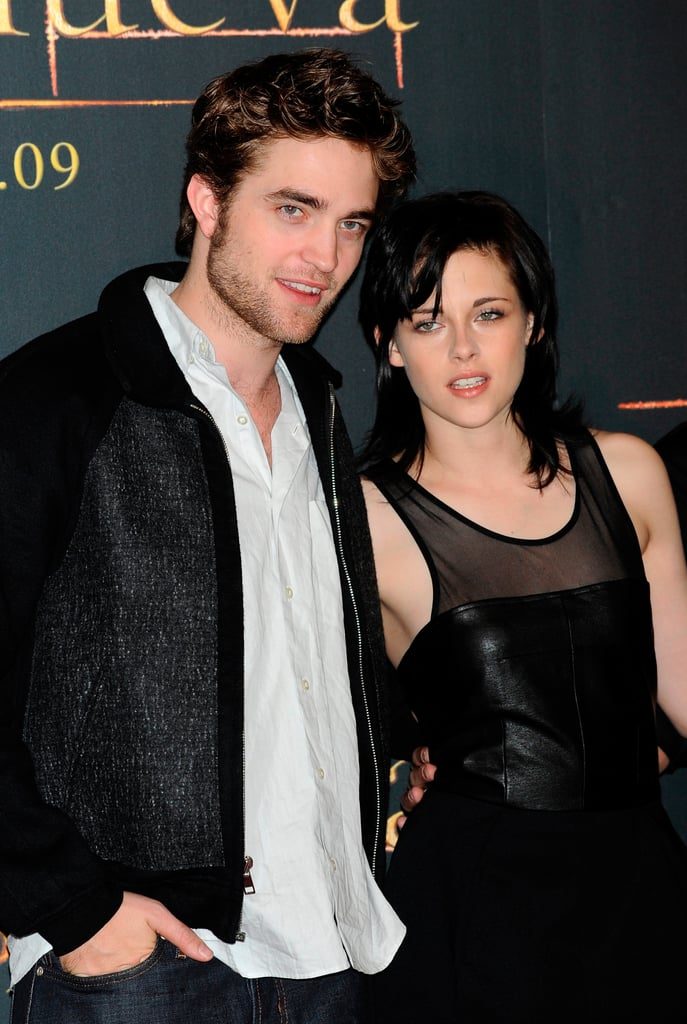 Robert Pattinson and Kristen Stewart attended a photocall for New Moon in Spain in 2009.