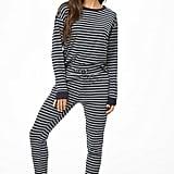 Striped Ribbed Pajama Pants