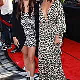 Vanessa and Stella Hudgens both wore prints to the premiere of Iris in LA on Sunday.