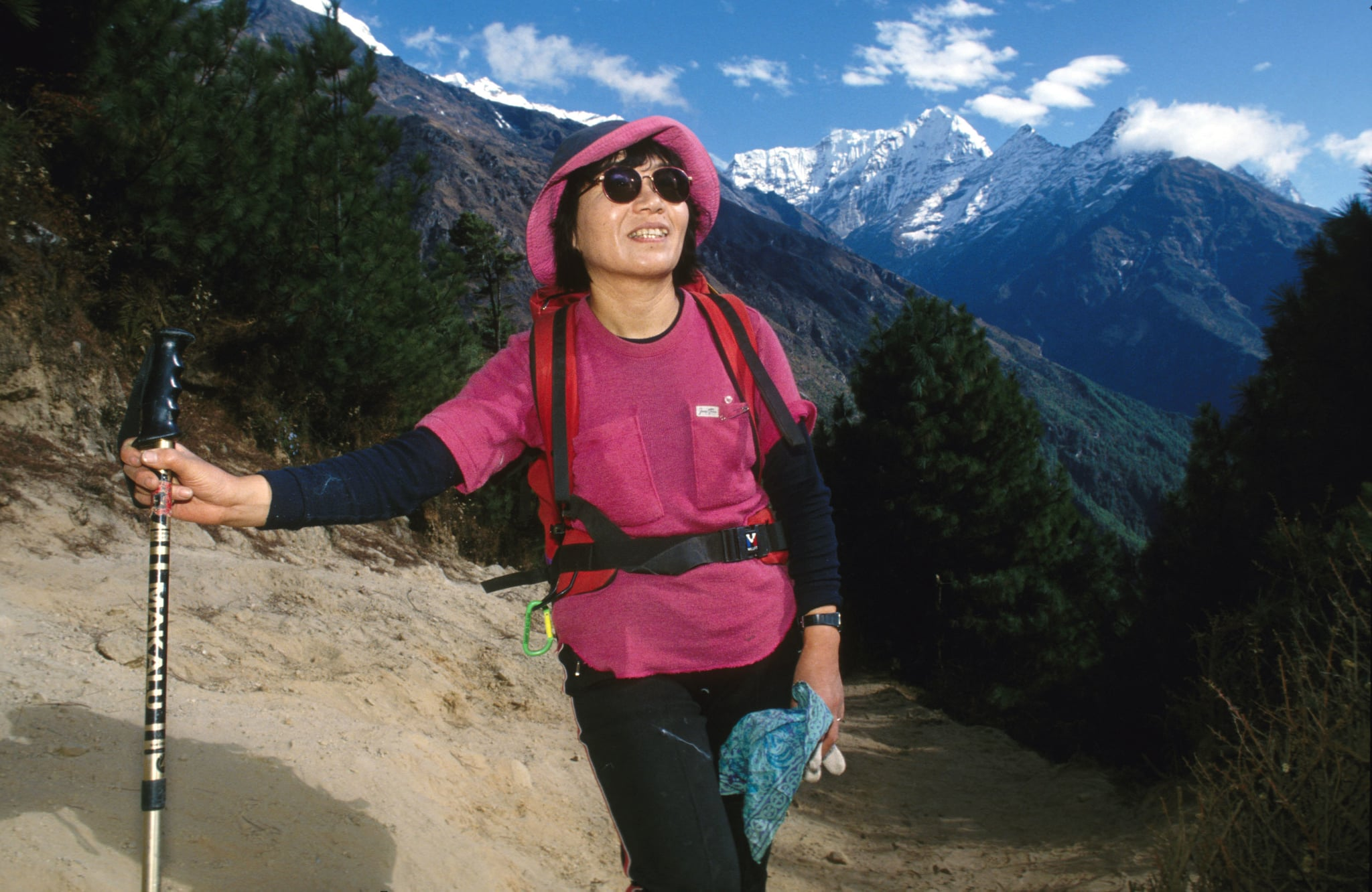 Junko Tabei, from Japan, was the first woman to reach the summit of Everest on May 16, 1975, at the age of 35. Despite being injured in an avalanche at Camp II with 7 other Japanese expedition members, including 6 Sherpas twelve days before, she succeeded in conquering Everest. (Photo by John van Hasselt/Corbis via Getty Images)