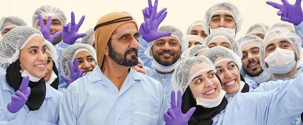 سمو الشيخ محمد يزور مركز محمد بن راشد للفضاء