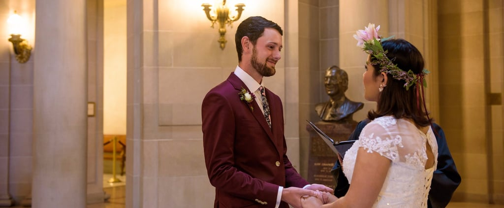 This Intimate City Hall Wedding Proves a Couple's Big Day Can Be Done Small