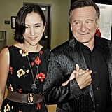 Robin and Zelda had a sweet father-daughter moment in front of the cameras at an event for his movie World's Greatest Dad in 2009.