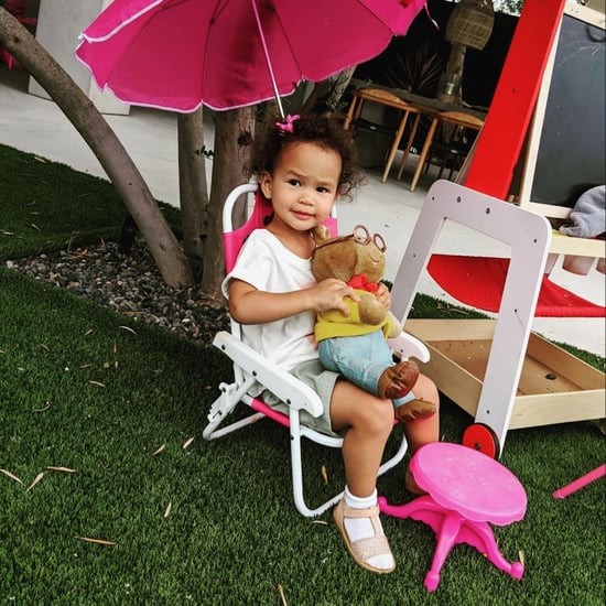 Chrissy Teigen Gives Luna an Arthur Doll 2018