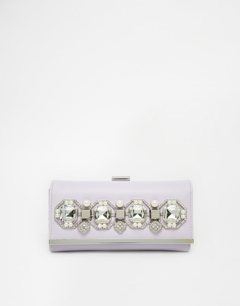 River Island Pearl and Jewel Cliptop Clutch
