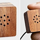 This adorable I.dear Speaker ($36) fits on a key chain and uses a USB port to recharge its battery. Simply connect your device to the audio jack.