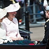 Prince Harry cracked up Kate as they rode together in a carriage during the festivities.