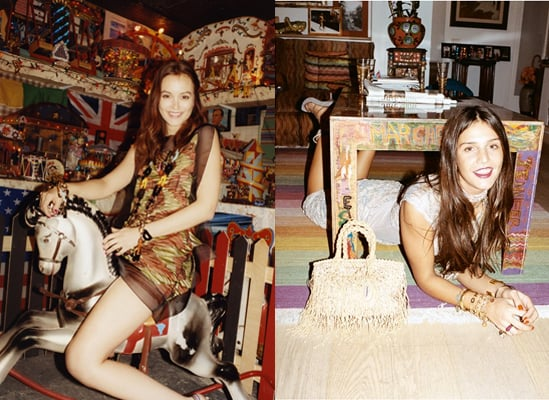 It's like deja vu. Leighton gets playful with a rocking horse while Margherita gets crafty.