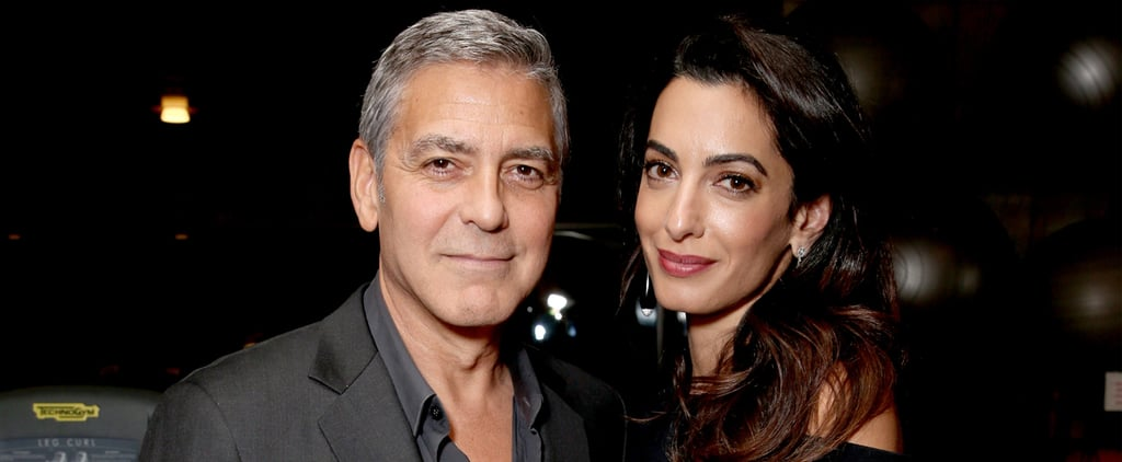 Amal Clooney Crashes George's Boys' Night Out With Hugh Jackman and Michael Douglas
