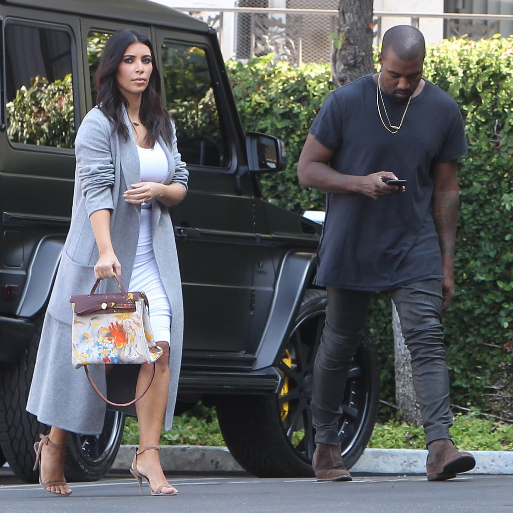 Photos of Kim Kardashian's Hermès Bag Painted by North West