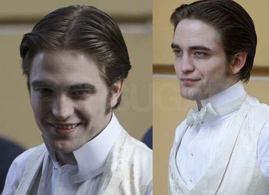 New Photos of Robert Pattinson Filming Wedding Scene For Bel Ami With Uma Thurman in Budapest Rumours About Playing Kurt Cobain