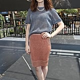 Lily Collins greeted fans in a relaxed Bec & Bridge pairing and pointy-toe Louboutins while in California.