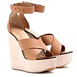 The kind of wedges that lend a bit of sex appeal while still being walkable.  Chloé Leather Wedge Sandals ($605)