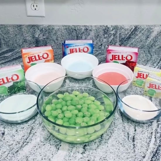 Jell-O Rainbow Grapes Recipe | TikTok Video
