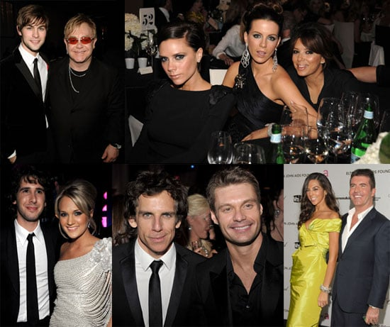 Photos of Victoria Beckham, Chace Crawford, Eva Longoria, Ben Stiller, Claire Danes at Elton John's 17th Annual Oscar Party