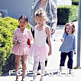 Jennifer Garner gathered Violet Affleck from ballet class with a friend while Seraphina Affleck came along in LA.