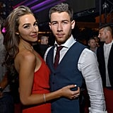 On Saturday, Joe Jonas partied with his girlfriend, Olivia Culpo, at his brother Joe's birthday celebration at XS nightclub in Las Vegas.