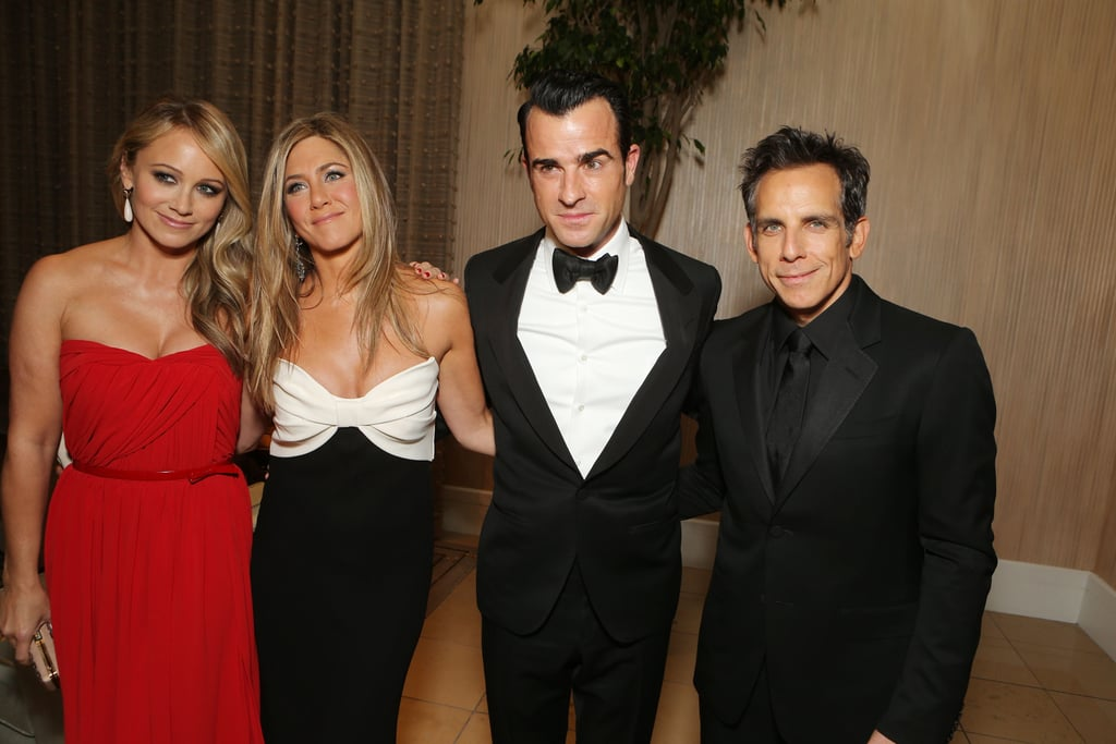 Christine Taylor, Jennifer Aniston, Justin Theroux and Ben Stiller attended the American Cinematheque Awards in LA.