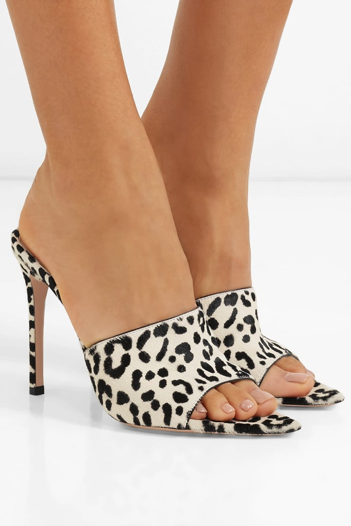 44701227c491 Gianvito Rossi Leopard Print Calf Hair Mules | Sandals Trends For ...