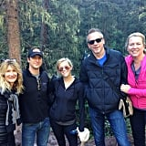 """""""Morning hike with my #WILDmovie crew. Laura Dern, David Greenbaum, Jean Marc Vallee and @cherylstrayed #Tellruide #thegangisbacktogeether,"""" Reese captioned this group picture."""