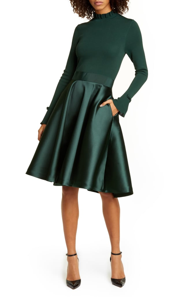 Ted Baker London Zadi Long Sleeve Fit Amp Flare Dress Shop