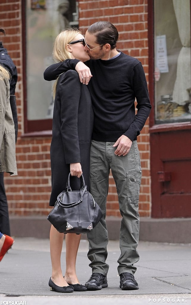 Kate Bosworth and boyfriend Michael Polish shared a passionate kiss while walking around the West Village in NYC.