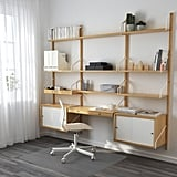SVALNÄS Wall-Mounted Workspace Combination, $590