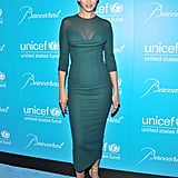 Uma Thurman arrived at a UNICEF fundraiser.