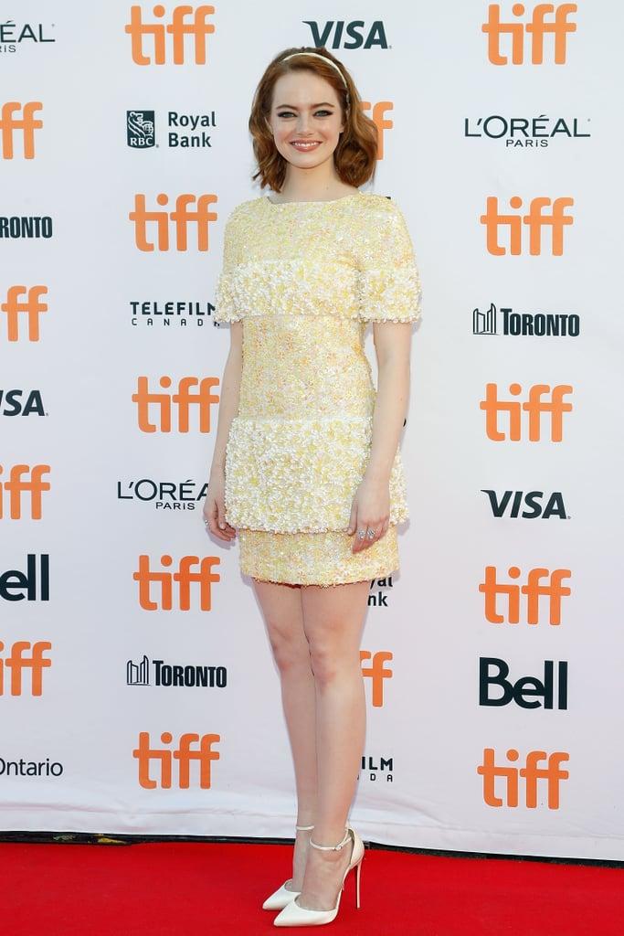 Emma Stone's Yellow Chanel Dress at TIFF 2016