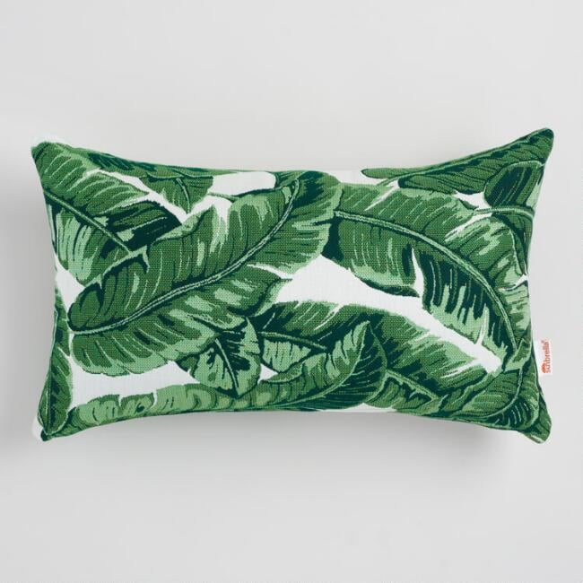 tropical home decor items sunbrella tropical leaf outdoor lumbar pillow cute home decor  sunbrella tropical leaf outdoor lumbar
