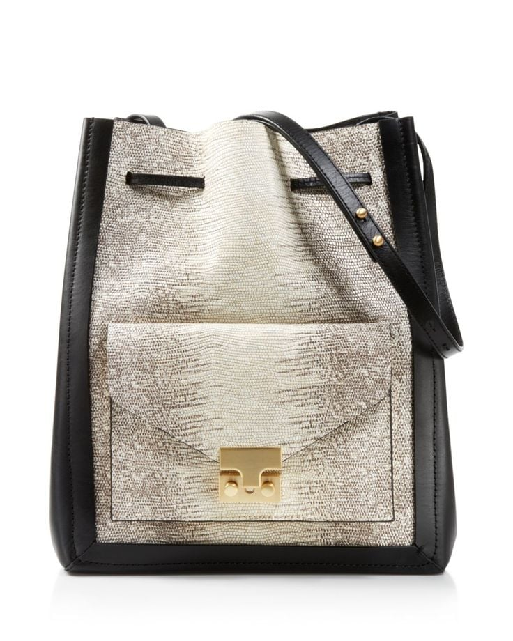 Loeffler Randall Embossed Lizard Drawstring Bag ($525)