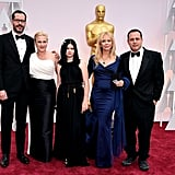 Patricia Arquette brought her boyfriend Eric White, her sister Rosanna, brother Richmond, and daughter Harlow Olivia as her dates to the Oscars.