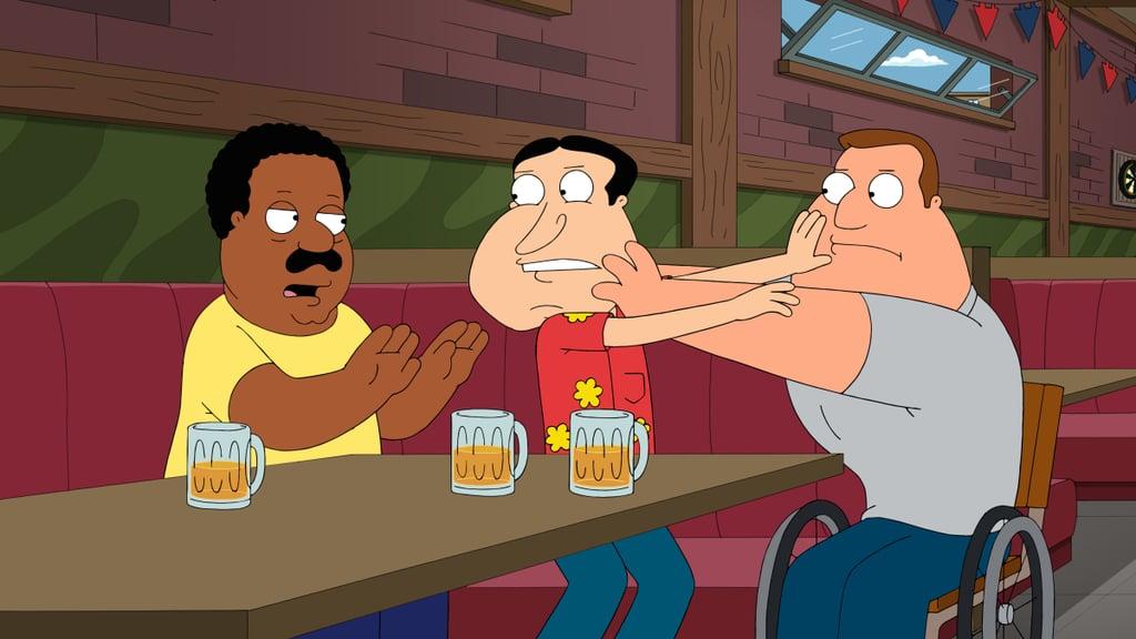The Drunken Clam on Family Guy