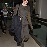 Is that Cate Blanchett in a . . . jumpsuit? The star isn't afraid to take a risk when passing through security.