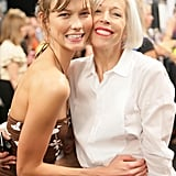 Karlie Kloss got close to Linda Fargo at the Michael Kors runway show.