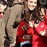 Kate Middleton wore Orla Kiely to the Rose Hill Primary School in Oxford.