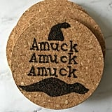Amuck Quote Wood Burned Coasters