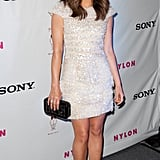 Lucy Hale struck a solo pose.