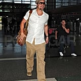 Photos of Brad Pitt at LAX