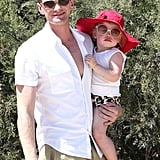 Neil Patrick Harris carried baby Harper Burtka-Harris in Saint-Tropez.