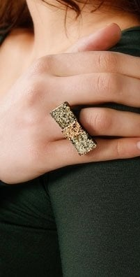 Fauz Bow Glitter Ring, Was $48, Now $33.60