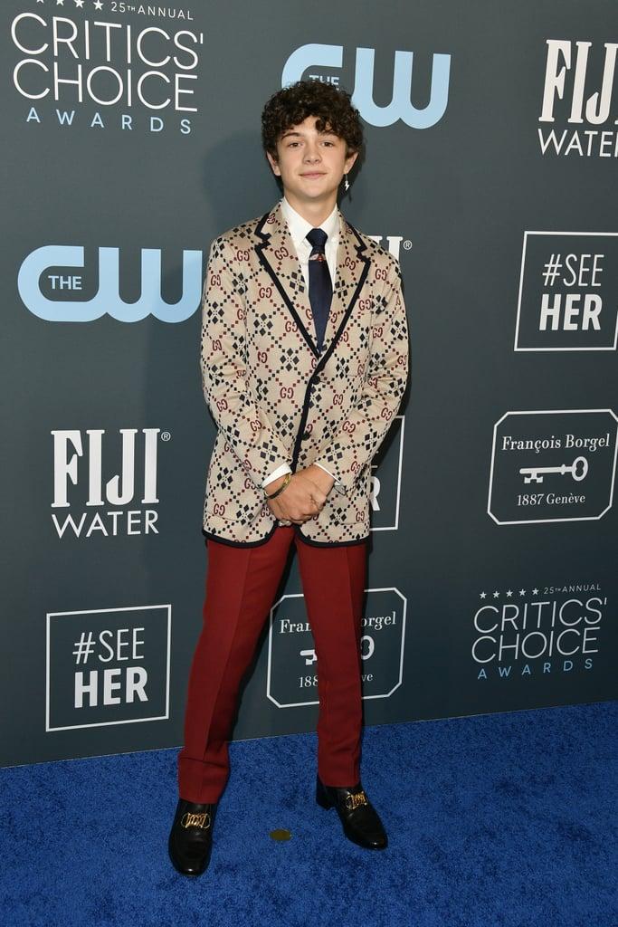 Noah Jupe at the 2020 Critics' Choice Awards
