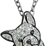 قلادة من الفضّة الإسترلينيّة والكريستال مع حرف على شكل البولدوغ الفرنسيّ من Animal Planet (بسعر 250$ دولار أمريكي؛ 918 درهم إماراتيّ/ريال سعوديّ)